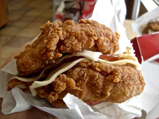 KFC Double Down Sandwich