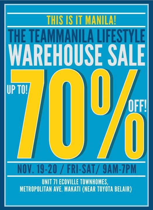 Team Manila Lifestyle Warehouse Sale