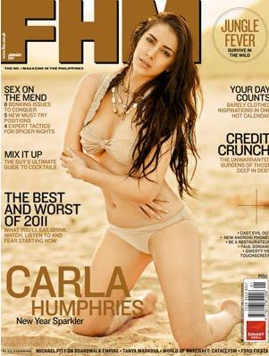 Carla Humphries FHM Philippines January 2011 Cover