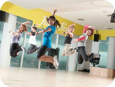 Fitness First Dance Jump Shot