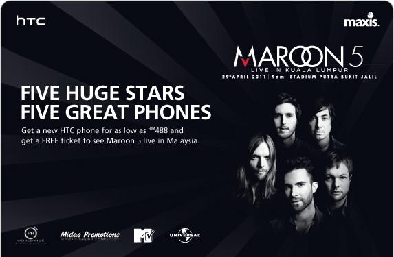 Maroon 5 Kuala Lumpur