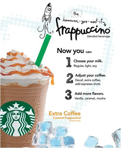 Create Your Own Frappuccino