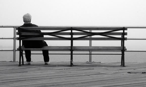 Alone on a bench
