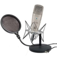 Behringer C1U and Samson Pop Filter