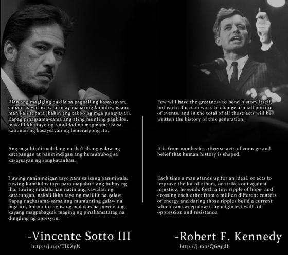Vicente Sotto and Robert Kennedy