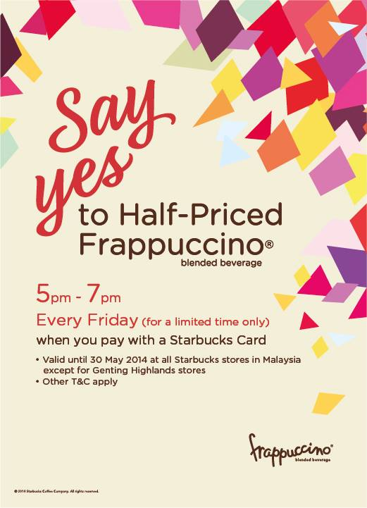 Starbucks Half-Priced Frappuccino